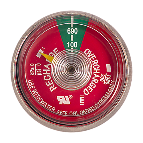 100 Psi Water Gauge For Fire Extinguisher National Fire