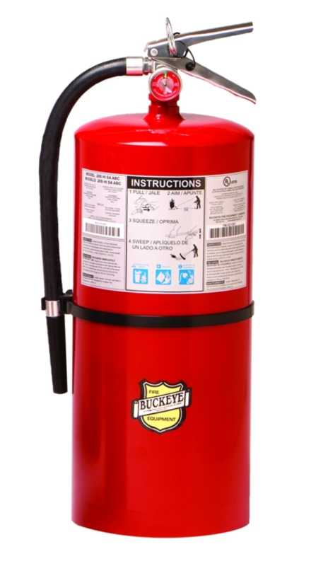 Abc Fire Extinguisher >> 12120 Buckeye Abc Dry Chemical 20lb Fire Extinguisher With Wall Hook